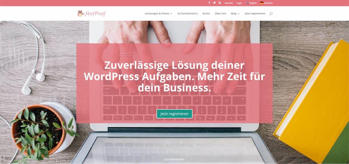 Image of hoofproof's website