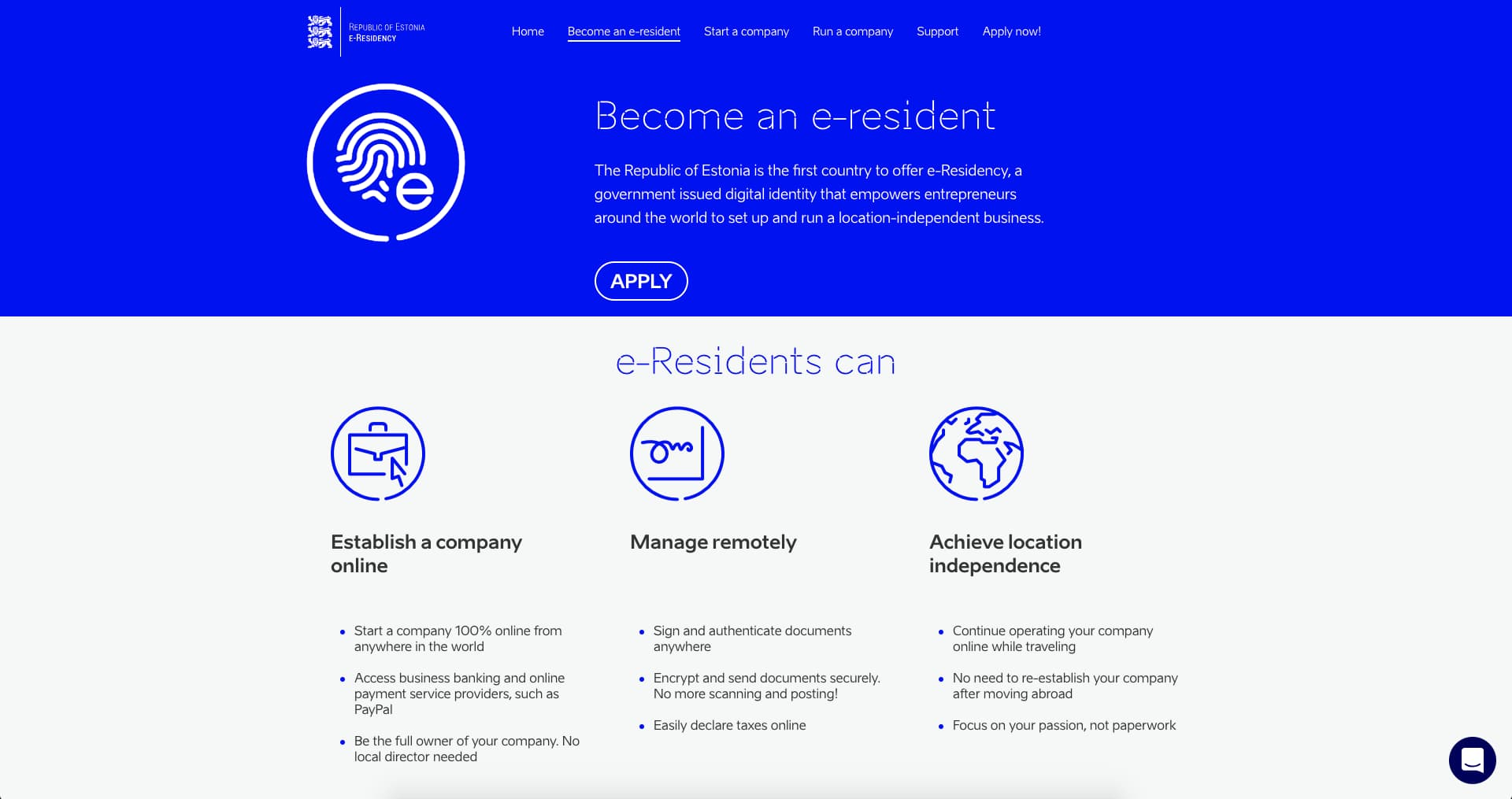 e-Residency website