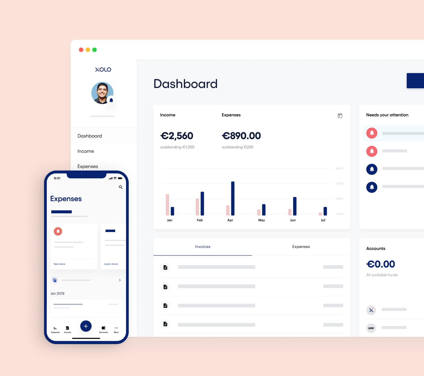 Image of Xolo dashboard