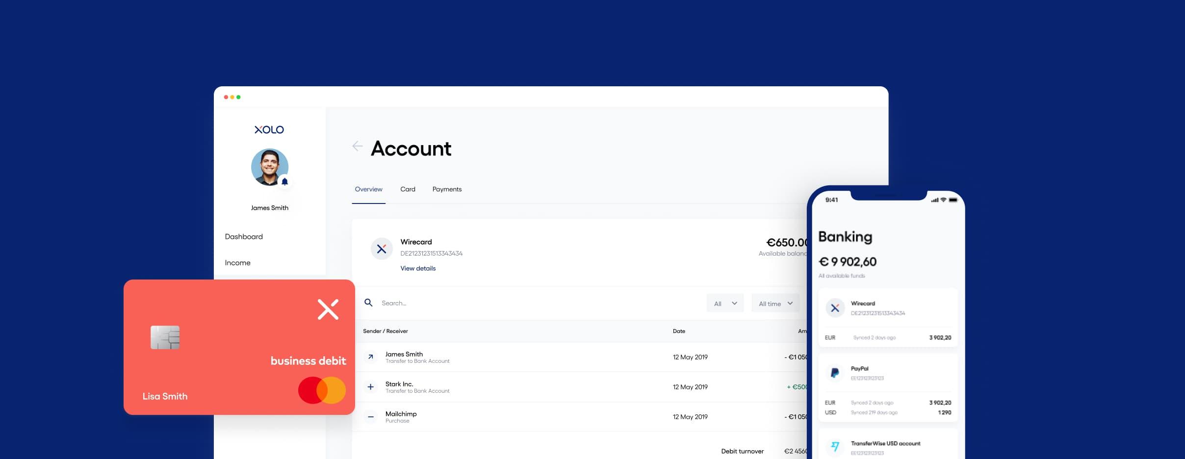 Image of Xolo's bank account