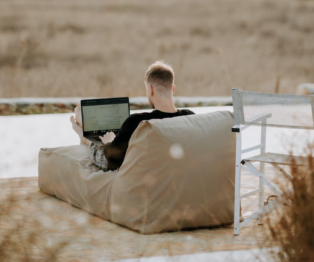 Image of man sitting