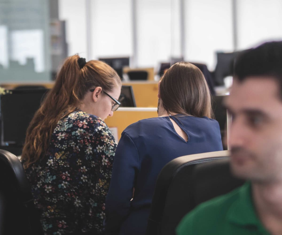 Image of women working together