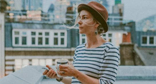 Image of Woman on Balcony