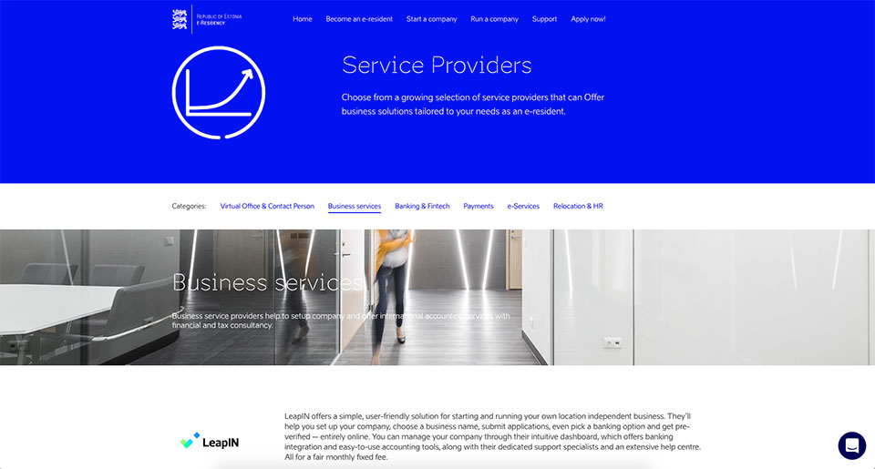 e-Residency service providers
