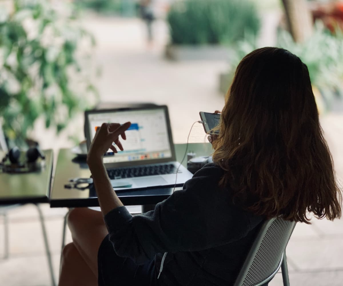 Image of woman working with laptop
